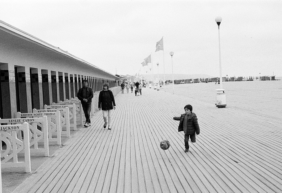 Ball on the Boardwalk | LEICA 3.5/50MM ELMAR LTM <br> Click image for more details, Click <b>X</b> on top right of image to close
