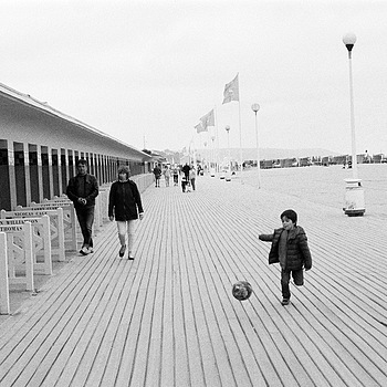 Ball on the Boardwalk | 3.5/50MM ELMAR LTM <br> Click image for more details, Click <b>X</b> on top right of image to close