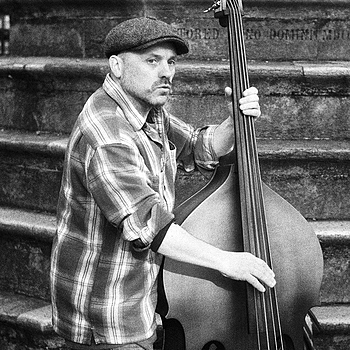 Street bass player | LEICA SUMMITAR 50MM F/2 <br> Click image for more details, Click <b>X</b> on top right of image to close