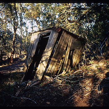 Broken down shed, African bush | CV 28MM / F 2.0 ULTRON <br> Click image for more details, Click <b>X</b> on top right of image to close