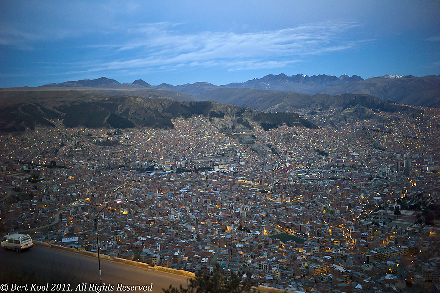 La Paz at Dusk, Bolivia | LEICA SUMMILUX 35MM F1.4 ASPH <br> Click image for more details, Click <b>X</b> on top right of image to close