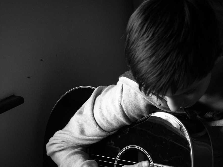 My Nephew Playing His Guitar | DG VARIO-SUMMICRON 28-90MM F2-2.4 <br> Click image for more details, Click <b>X</b> on top right of image to close