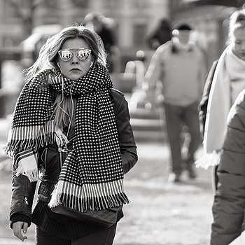 """I might decide to wear my new scarf today"" 
