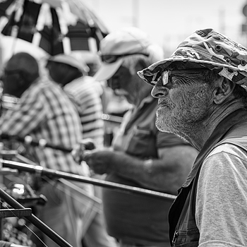 "One of an endless number of photos of ""A fisherman at the Galata Bridge"" 