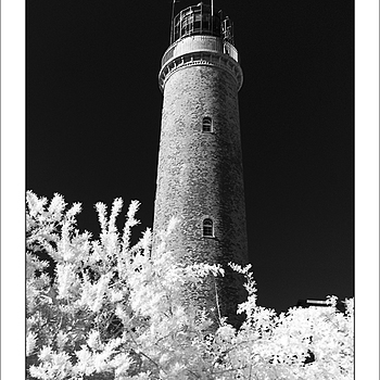 Zingst Tower in InfraRed | KOBALUX 21MM F/2.8 <br> Click image for more details, Click <b>X</b> on top right of image to close