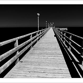 Zingst Pier in InfraRed | KOBALUX 21MM F/2.8 <br> Click image for more details, Click <b>X</b> on top right of image to close