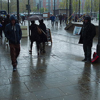 Manchester - Piccadilly in the Rain | LEICA TRI-ELMAR 28-35-50MM F4 ASPH <br> Click image for more details, Click <b>X</b> on top right of image to close