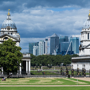 Old Royal Naval Colleges - Greenwich with Canary Wharf Beyond | LEICA ELMARIT 90MM F2.8 <br> Click image for more details, Click <b>X</b> on top right of image to close