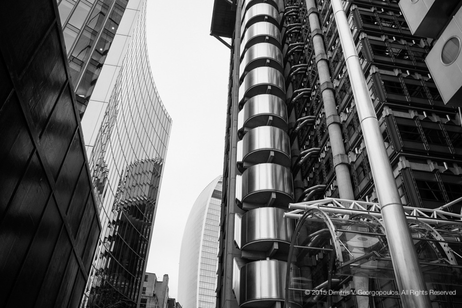 Lloyd's Building, London, Oct. 2015 | LEICA SUMMICRON 28MM F2 ASPH <br> Click image for more details, Click <b>X</b> on top right of image to close