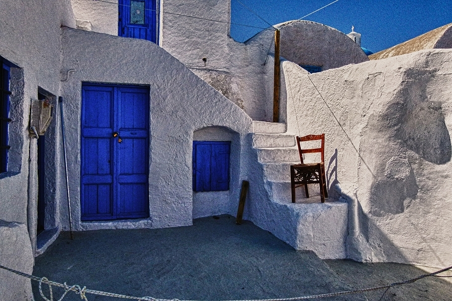 Blue & White in Santorini | LENS MODEL NOT SET <br> Click image for more details, Click <b>X</b> on top right of image to close