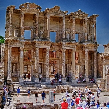 The Library at Ephesus | LENS MODEL NOT SET <br> Click image for more details, Click <b>X</b> on top right of image to close