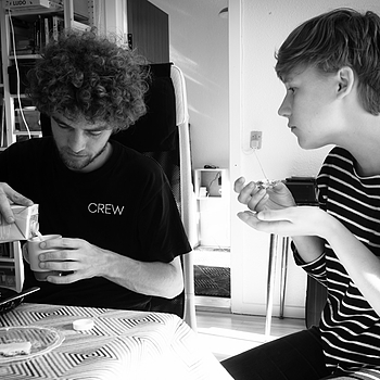 JUNE 4 - Ole and Line having a late breakfast | LEICA ELMARIT 28MM F2.8