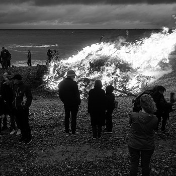 Mid summer bonfire at the beach of Old Skagen | LEICA ELMARIT 28MM F2.8 <br> Click image for more details, Click <b>X</b> on top right of image to close