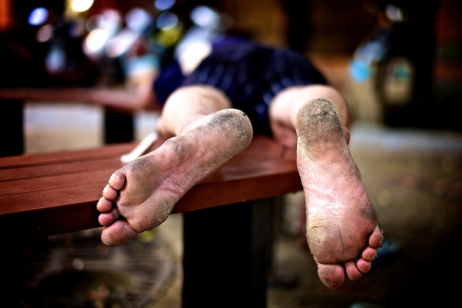 """Everyone wipes their feet on poverty"" German Saying 
