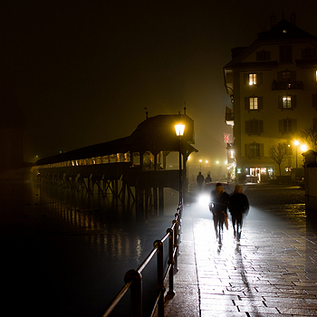 Kappelbrucke on a foggy night | ZEISS ZM BIOGON T* F2.0 35MM