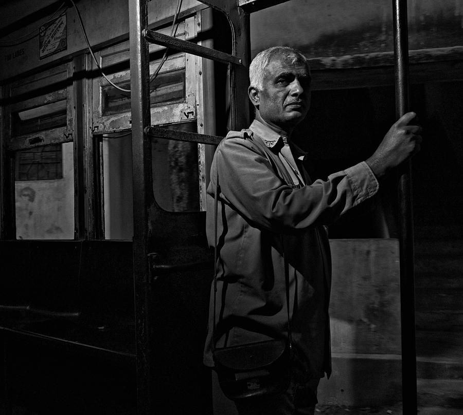 Tram Conductor Kolkata | LEICA SUMMICRON 28MM F2 ASPH <br> Click image for more details, Click <b>X</b> on top right of image to close