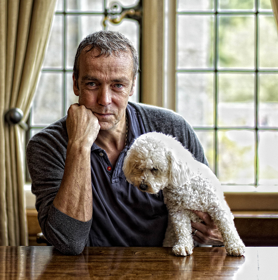 Actor John Hannah of' Spartacus' and 'Four Weddings and a Funeral' Fame with Coco the dog. | SUMMILUX-M 1:1.4/50 ASPH <br> Click image for more details, Click <b>X</b> on top right of image to close