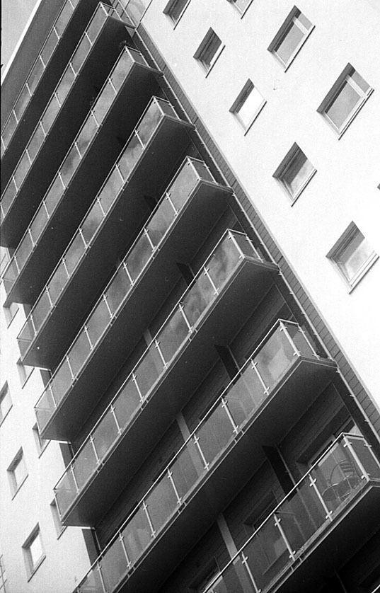 Apartment block. | LEICA SUMMAR 50MM F2 <br> Click image for more details, Click <b>X</b> on top right of image to close