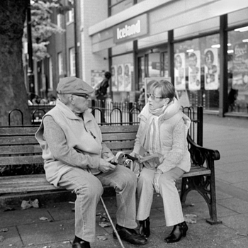 Elderly Conversation | LEICA SUMMILUX 35MM F1.4 <br> Click image for more details, Click <b>X</b> on top right of image to close