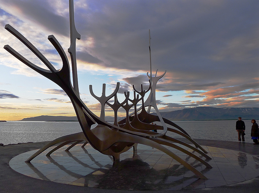 Boat Sculpture in Reykjavik, Iceland | LEICA DC VARIO-SUMMICRON 1:2.0-3.3/5.1-19.2 ASPH <br> Click image for more details, Click <b>X</b> on top right of image to close