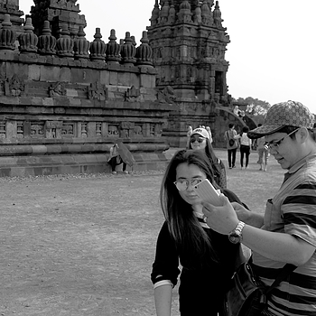 Selfie in Prambanan, Indonesia | DC VARIO-SUMMICRON 1:2.0-3.3/5.1-19.2 ASPH <br> Click image for more details, Click <b>X</b> on top right of image to close