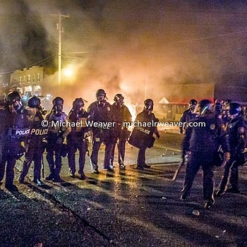 Ferguson on Fire | CV 28MM / F 2.0 ULTRON <br> Click image for more details, Click <b>X</b> on top right of image to close