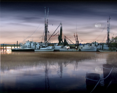 Shrimpers at Night | DC VARIO-SUMMICRON 7-21MM F/2.0-2.5 ASPH <br> Click image for more details, Click <b>X</b> on top right of image to close