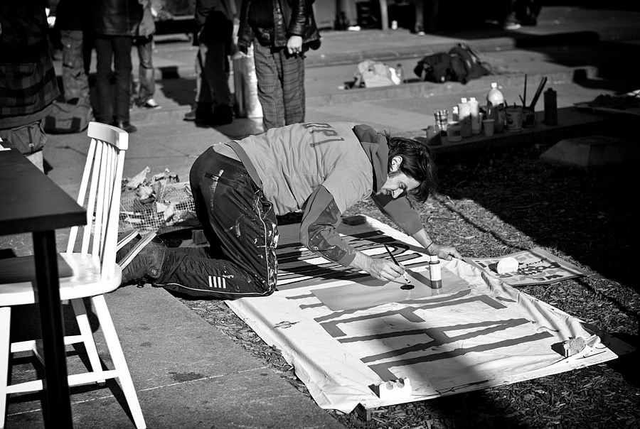 The Sign Maker -B&W | ZEISS ZM PLANAR T* F2.0 50MM <br> Click image for more details, Click <b>X</b> on top right of image to close