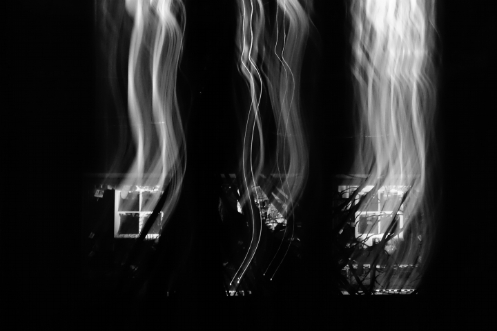 Burning house (not really) b&w | LENS MODEL NOT SET <br> Click image for more details, Click <b>X</b> on top right of image to close