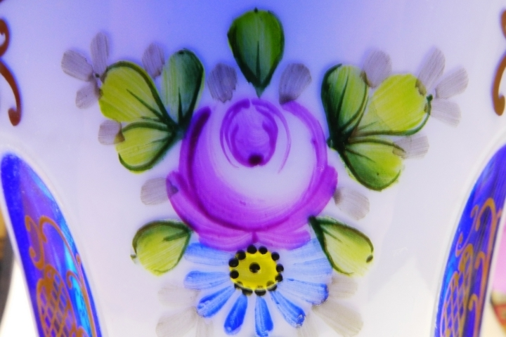 Painted flowers on glass | LENS MODEL NOT SET <br> Click image for more details, Click <b>X</b> on top right of image to close