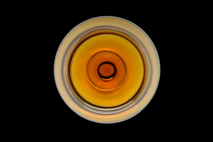 A glass of sweet wine from above | LENS MODEL NOT SET <br> Click image for more details, Click <b>X</b> on top right of image to close