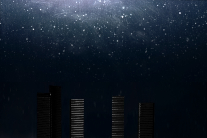 Skyscrapers under snowstorm | LENS MODEL NOT SET <br> Click image for more details, Click <b>X</b> on top right of image to close