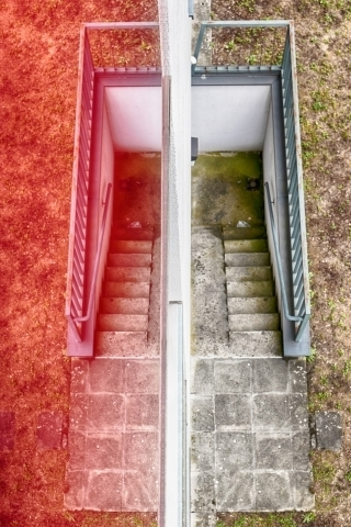 Staircase in reflection | LENS MODEL NOT SET <br> Click image for more details, Click <b>X</b> on top right of image to close