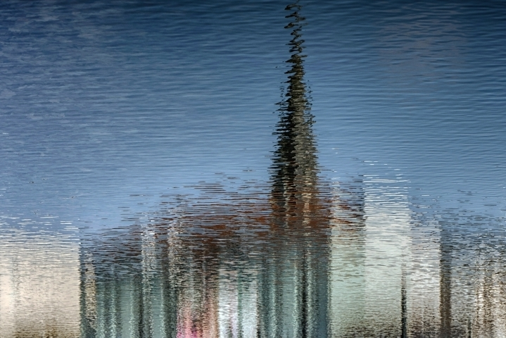 Reflection of a town | LENS MODEL NOT SET <br> Click image for more details, Click <b>X</b> on top right of image to close