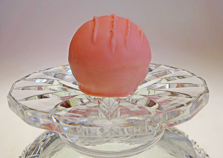 Strawberry truffle on crystal glass 1 | LENS MODEL NOT SET <br> Click image for more details, Click <b>X</b> on top right of image to close