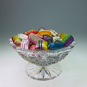 Boiled sweets in crystal bowl | LENS MODEL NOT SET <br> Click image for more details, Click <b>X</b> on top right of image to close
