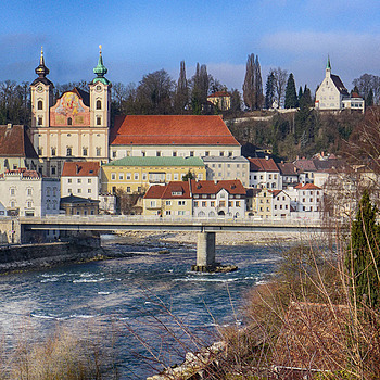 Town of Steyr with river Steyr 1 | LENS MODEL NOT SET