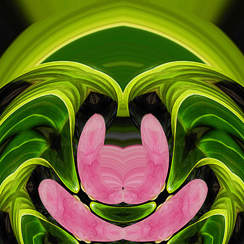 Green man with pink cat | LENS MODEL NOT SET <br> Click image for more details, Click <b>X</b> on top right of image to close