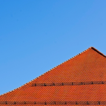 Red roof and blue sky | LENS MODEL NOT SET <br> Click image for more details, Click <b>X</b> on top right of image to close
