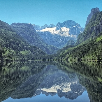 Lake of Gosau and mountain Dachstein | LENS MODEL NOT SET <br> Click image for more details, Click <b>X</b> on top right of image to close