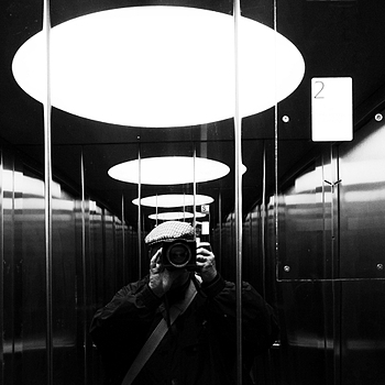 Selfie in elevator | LENS MODEL NOT SET <br> Click image for more details, Click <b>X</b> on top right of image to close