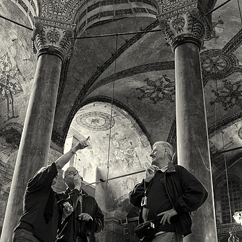 Tourists in Aya Sofia, Istanbul | ZEISS ZM BIOGON T* F2.8 28MM <br> Click image for more details, Click <b>X</b> on top right of image to close
