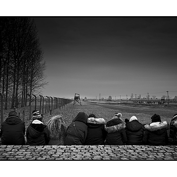 """Youth gathering in Auschwitz-Birkenau"" 