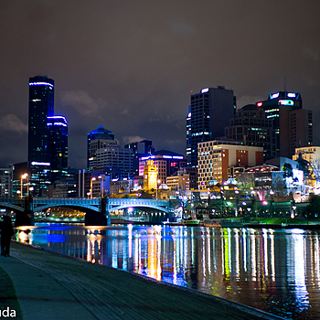 Melbourne at night 2 | SUMMILUX-M 1:1.4/50 ASPH <br> Click image for more details, Click <b>X</b> on top right of image to close