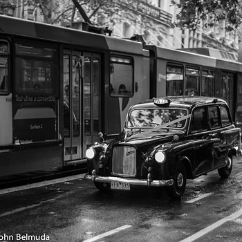 London Cab in Melbourne Australia | CANON LTM 50MM F1.2 <br> Click image for more details, Click <b>X</b> on top right of image to close