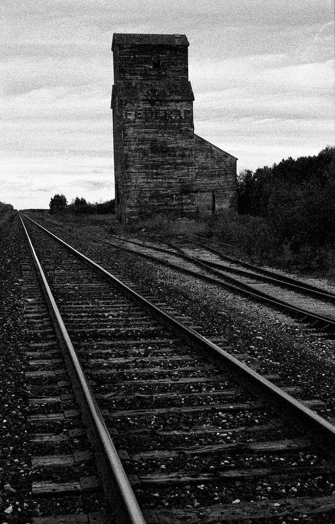 old grain elevator northern Saskatchewan | CV 35MM / F 1.2 NOKTON <br> Click image for more details, Click <b>X</b> on top right of image to close