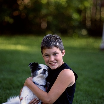 boy and his dog | LEICA ELMARIT 90MM F2.8 <br> Click image for more details, Click <b>X</b> on top right of image to close