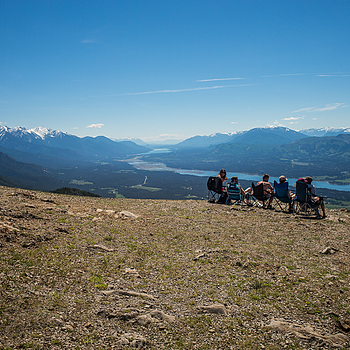 taking in the view of the valley of a thousand peaks, from Mt. Swansea, Invermere B.C. | LEICA SUMMICRON 28MM F2 ASPH