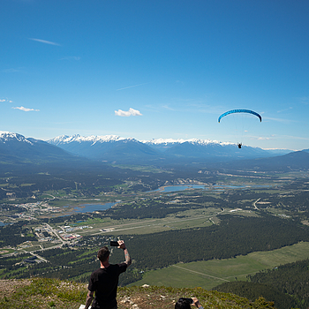 Hang gliding  off Mt. Swansea over The Valley of a Thousand Peaks  Invermere B.C. | LEICA SUMMICRON 28MM F2 ASPH