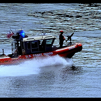 US Coast Guard patrol | LEICA TELE-ELMARIT 90MM F2.8 (SLIM) <br> Click image for more details, Click <b>X</b> on top right of image to close